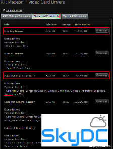 ATI CATALYST 드라이버/WDM/Control Center(2000/XP) v8.7