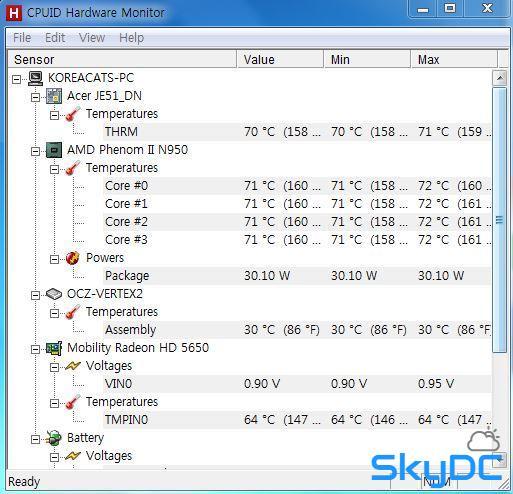[유틸리뷰]노트북 발열때문에 구한 PC온도측정 프로그램