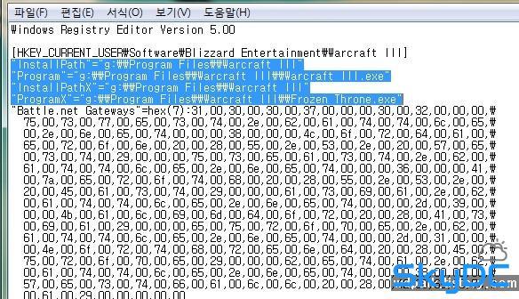 [ㅇㄷㅇ]워크래프트3 프로즌쓰론 무설치 사용방법 및 설치폴더 등록 레지스트리
