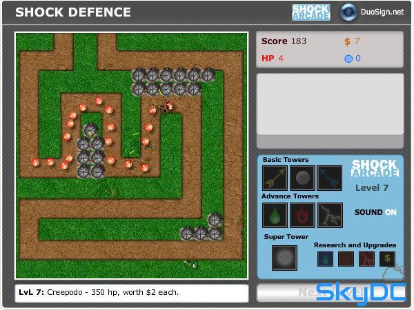 플래시 디펜스 게임 쇼크 디펜스 (shock defence)