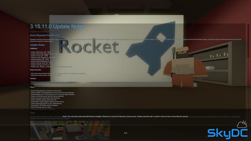 언턴드 서버 개설 #2. 로켓 (업뎃 중단)