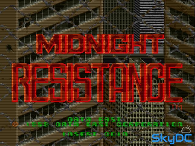 스틱 돌리기.. 미드나이트 레지스탕스 - Midnight Resistance #1 [MAME 고전 오락실 게임]