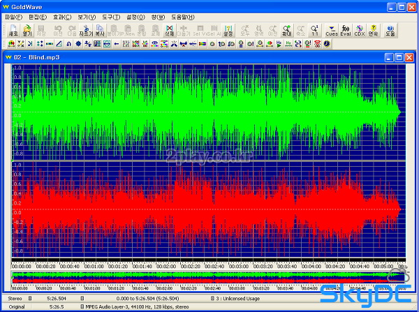골드웨이브 한글판 다운로드 - 사운드편집 프로그램 골드웨이브 한글판 Golewave 5.25 다운로드