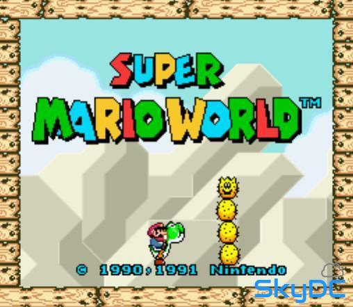 슈퍼마리오 월드 게임 (super mario world)