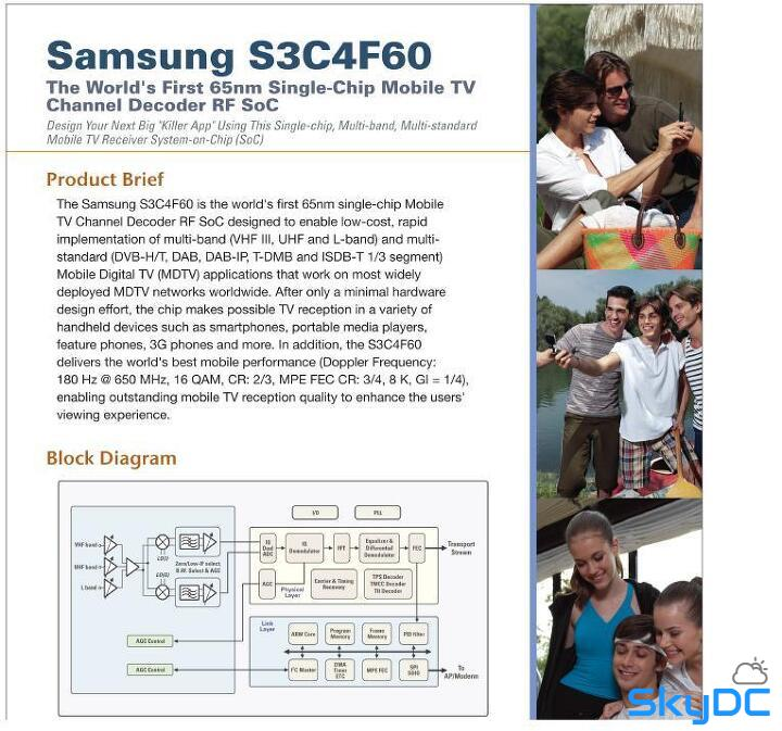 S3C4F60 World First Single Chip Mobile TV Chip